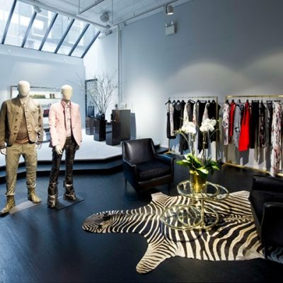 Sebraskinn i Diesel Black Gold Store by Ryan Korban, New York
