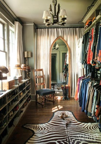 Sebraskinn i walk-in garderobe