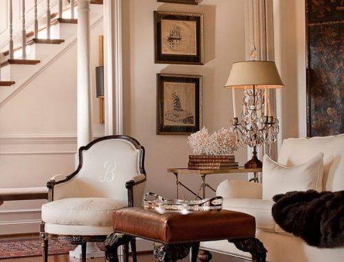 Sebrateppet er det som gjør dette rommet virkelig elegant.