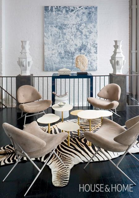 Internasjonale stilikoner bruker sebratepper i interiørdesignet sitt