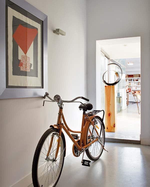 Sebrateppe bak sykkel