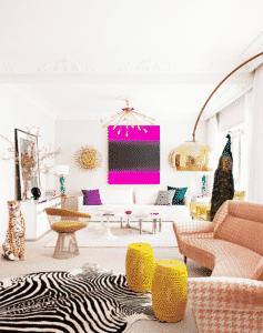 Living Pink med sebraskinn