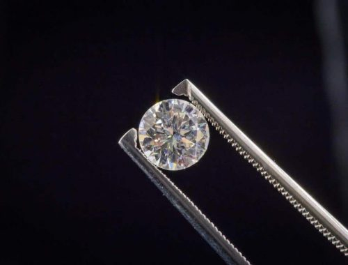 Nærbilde av diamant