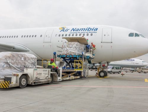 Airfreight with rugs from Namibia