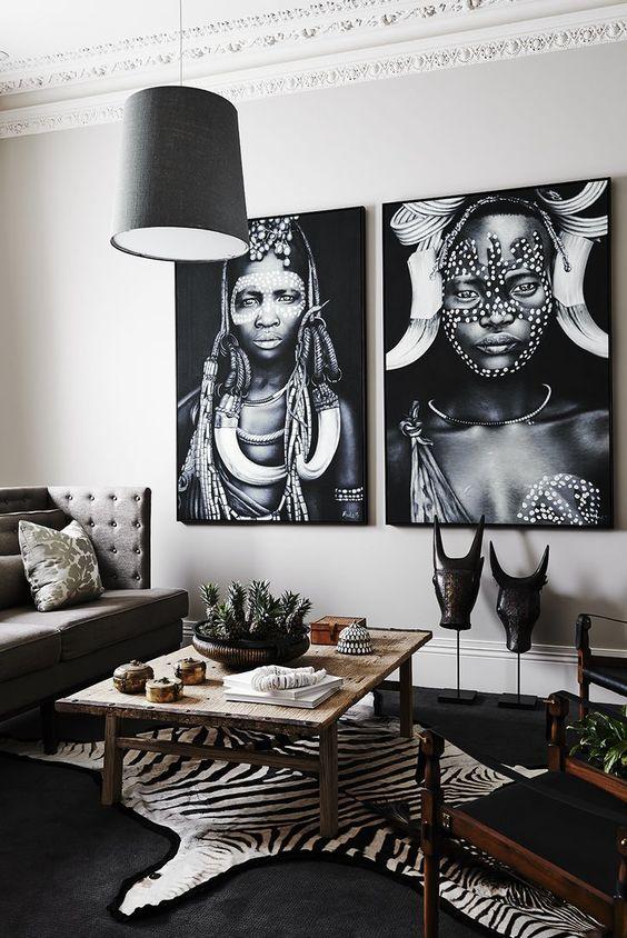 Sebraskinn og afrikansk bildekunst