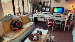 Sebraskinn i stua i Johannesburg